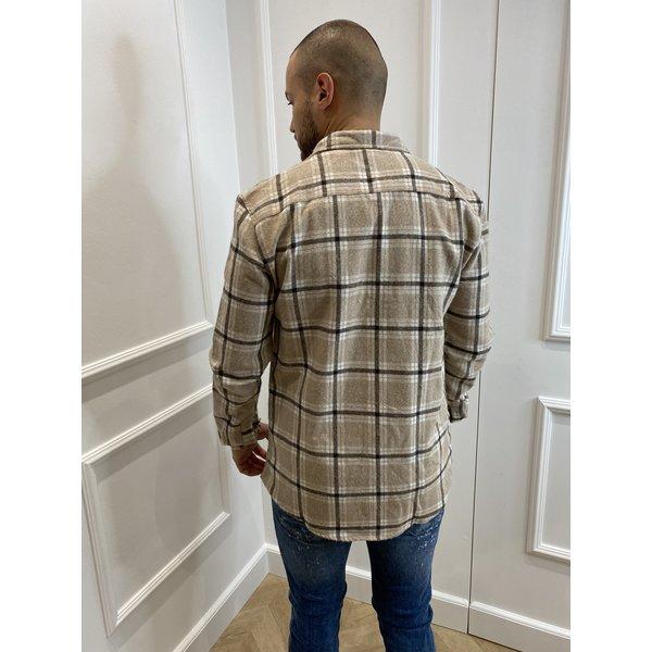 Y Flannel Shirt Beige