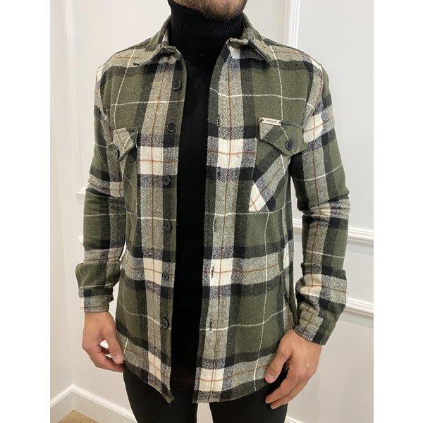 Y Flannel Shirt Pocket Green