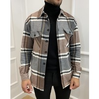 Y Flannel Shirt Pocket Brown