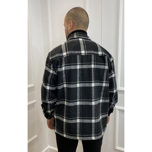 Y Flannel Jacket Pocket Black