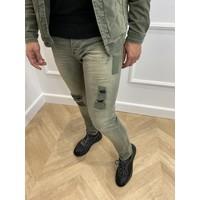 Y Skinny Fit Stretch Jeans Khaki