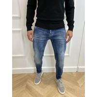 Y Skinny Fit Stretch Jeans Blue Washed & Splashed