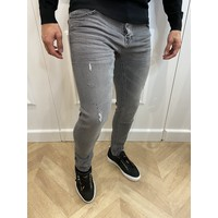 Y Skinny Fit Stretch Jeans Grey with Black splashes