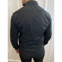Y Slim fit stretch blouse - Black