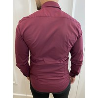 Y Slim fit stretch blouse - Wine Red