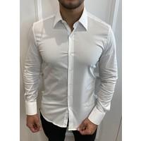Y Slim fit stretch blouse - White