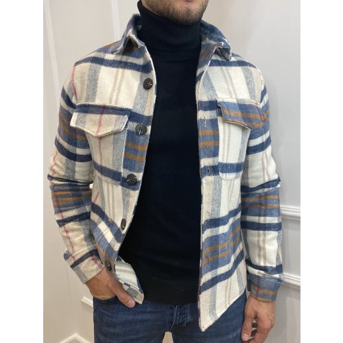 Y Flannel Jacket 4131 Navy