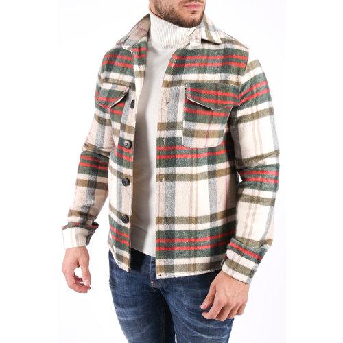 Y Flannel Jacket 4131 Green