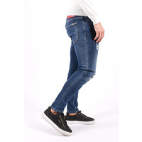 "Y Skinny fit stretch jeans ""428"" Blue with red splashes"