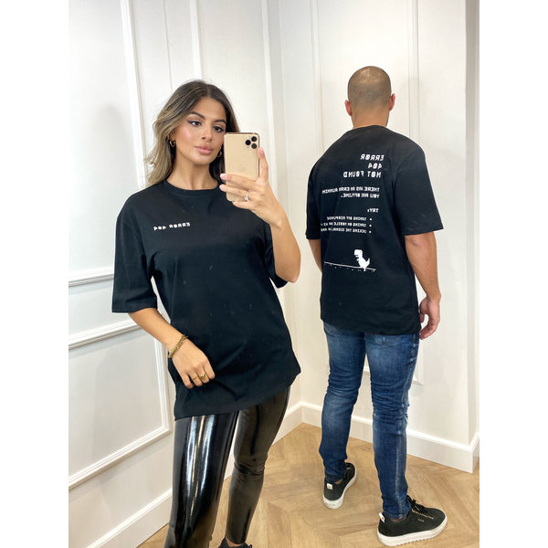 """Y AH T-shirt """"error"""" Unisex Black"""
