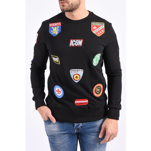 Y Sweater icon patches Black