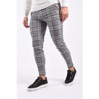 Y Stretch Pantalon Checkered Brown / Blue