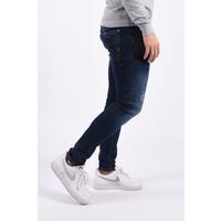"Y Skinny fit stretch jeans ""jax"" 449 Dark blue / orange splashes"