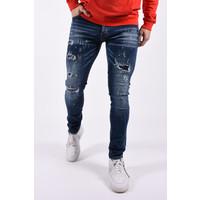 """Y Skinny fit stretch jeans """"mason""""  Blue shreds & splashes"""