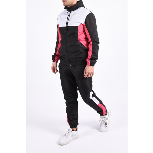 "Y Tracksuit ""amory"" black / white / pink"