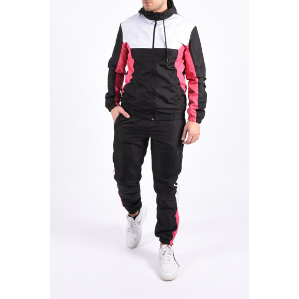 """Y Tracksuit """"amory"""" black / white / pink"""
