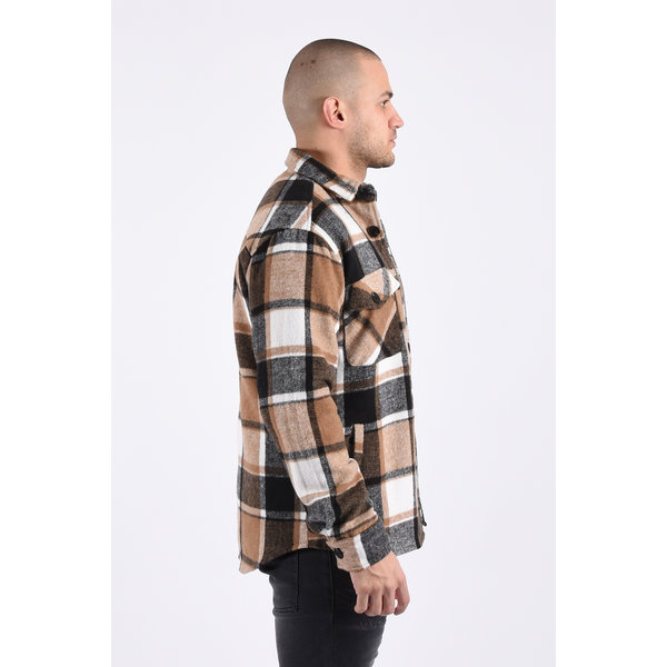 "Y Flannel jacket ""lane"" unisex brown"