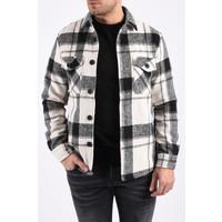 "Y Flannel jacket ""lane"" unisex black / white"