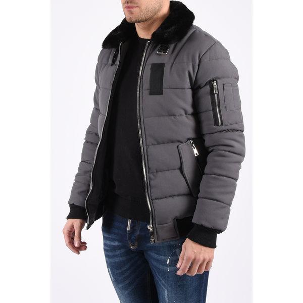 Y Pilot bomber jacket grey black