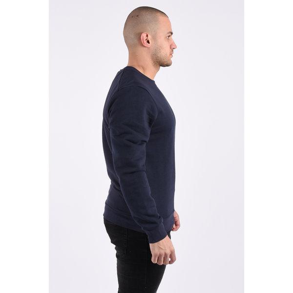 """Y Crew neck sweater """"kyle"""" dark blue"""