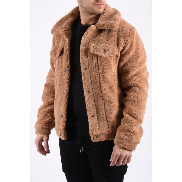 """Y Fluffy """"teddy"""" Jacket Camel"""