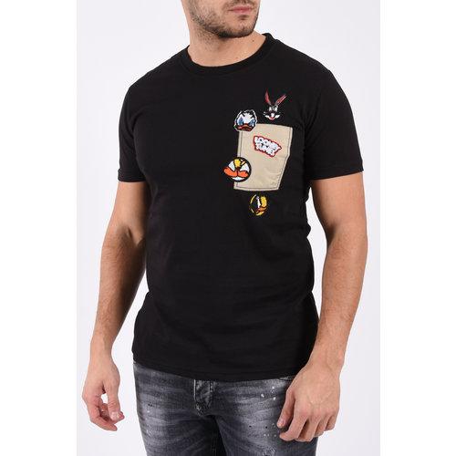 "Y T-shirt ""looney tunes"" Black"