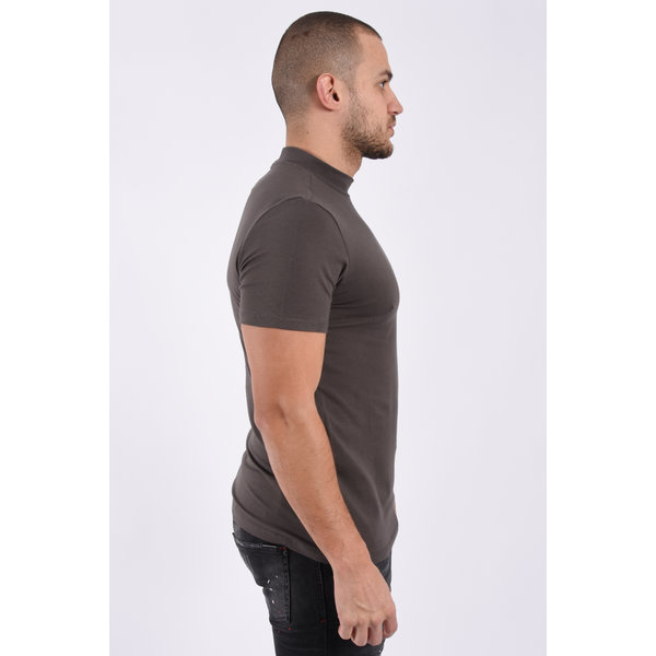 "Y T-shirt high neck ""rick"" Dark Grey"