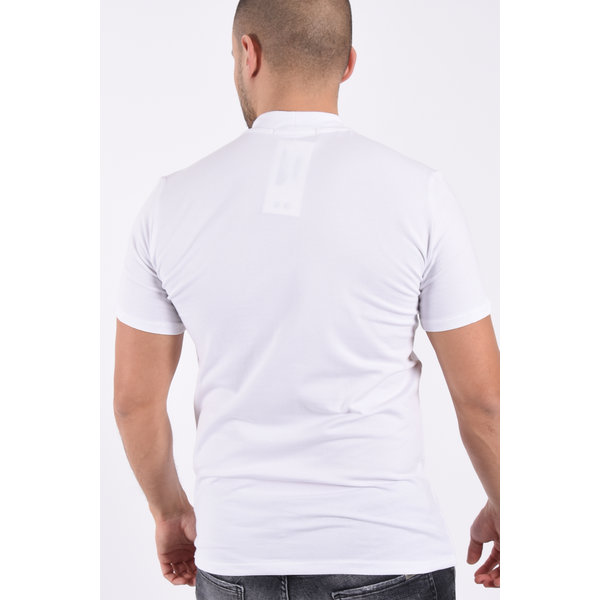 "Y T-shirt high neck ""rick"" White"