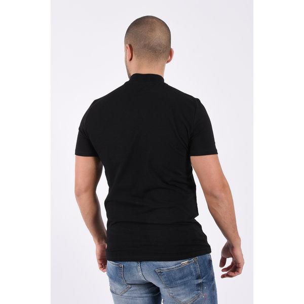 "Y T-shirt high neck ""rick"" Black"