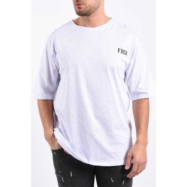 """Y T-Shirt """"fxck"""" unisex White"""