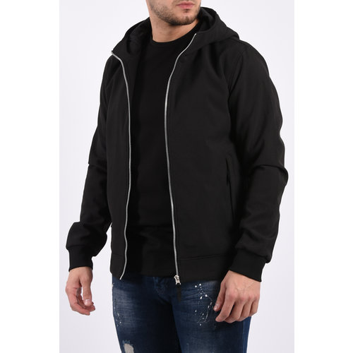 Y Hooded soft shell jacket Black