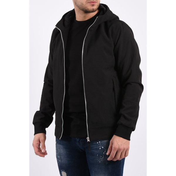 Y Hooded soft shell jacket Black