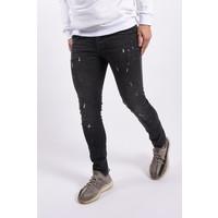 """Y Skinny fit stretch jeans """"romano"""" Dark Grey white  splashes"""