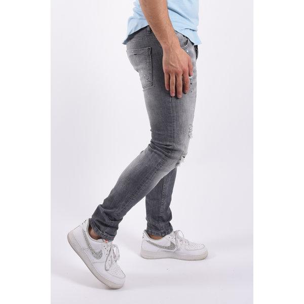 """Y Skinny fit stretch jeans  """"morgan"""" Grey splashed"""