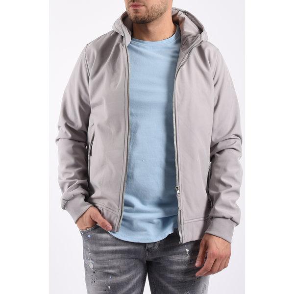 Y Hooded soft shell jacket Light Grey