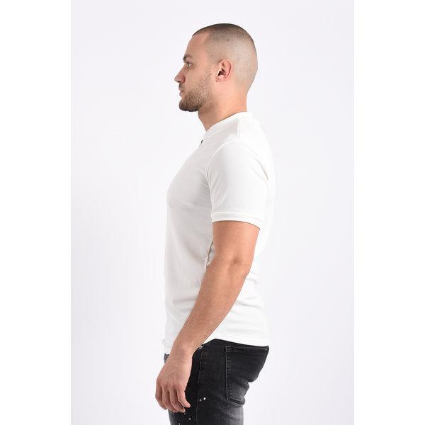 Y T-shirt zipper White