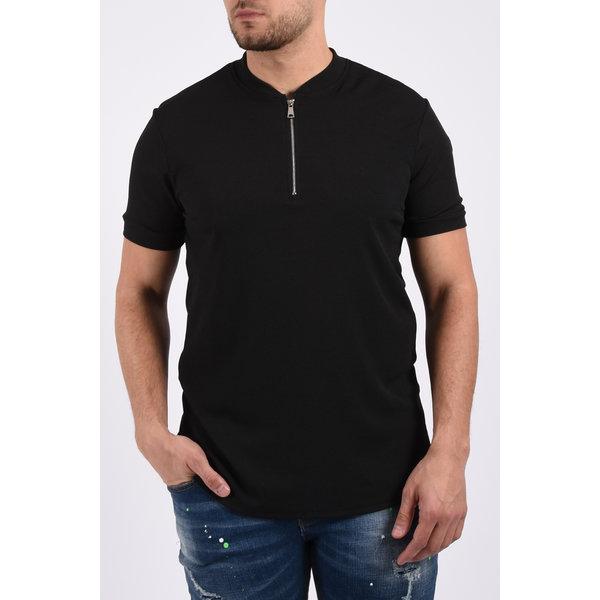 Y T-shirt zipper Black