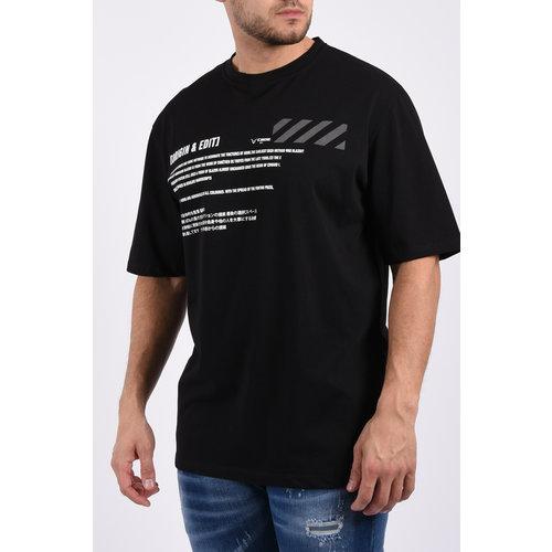 """Y T-Shirt """"gin & edit"""" unisex Black"""