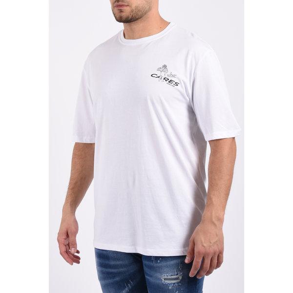 "Y T-Shirt ""who cares"" unisex White"