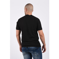 Y Short sleeve stretch blouse Black