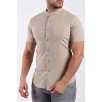 Y Short sleeve stretch blouse Beige