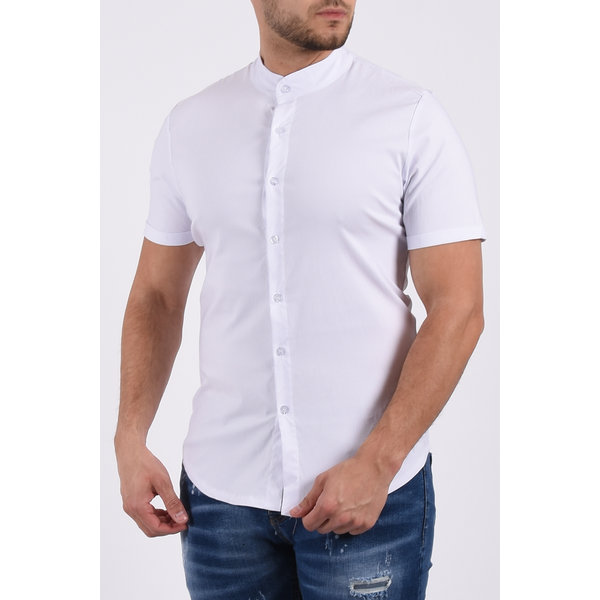 Y Short sleeve stretch blouse White