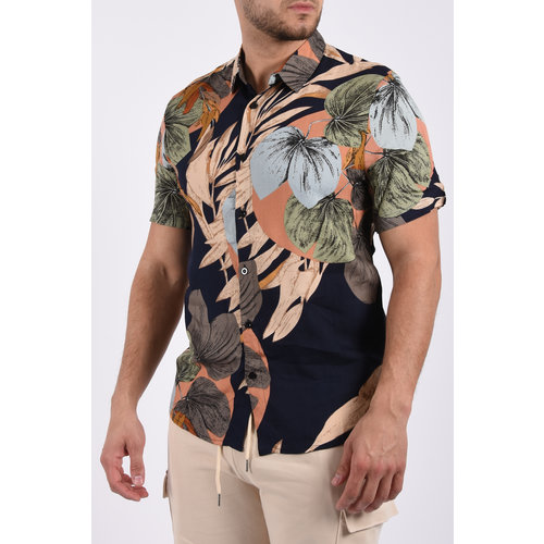"Y Summer blouse ""jungle"" Blue / Beige"