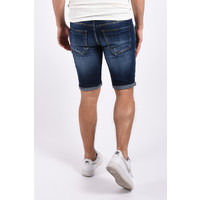 "Y Jeans stretch shorts ""dale"" Dark Blue / white splashes"
