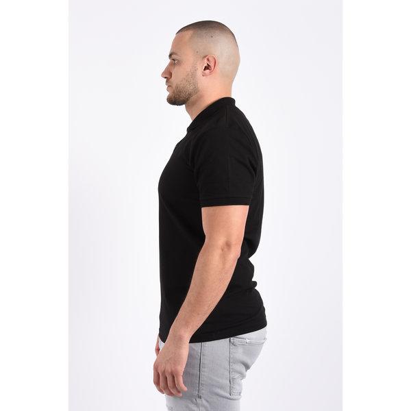 Y Polo basic stretch Black