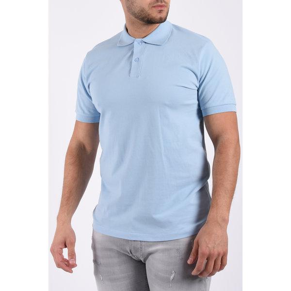 Y Polo basic stretch Light Blue