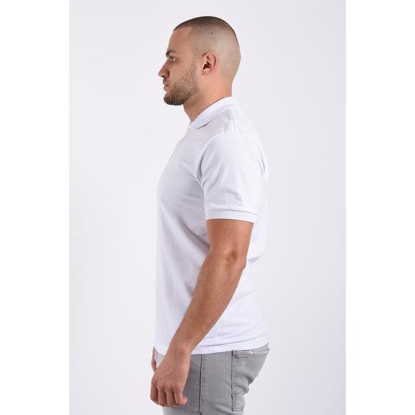 Y Polo basic stretch White