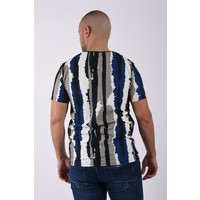 "Y T-Shirt ""picasso"" black / white / blue"