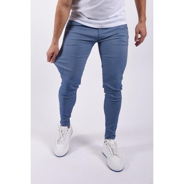 Y Stretch Pantalon Light Blue