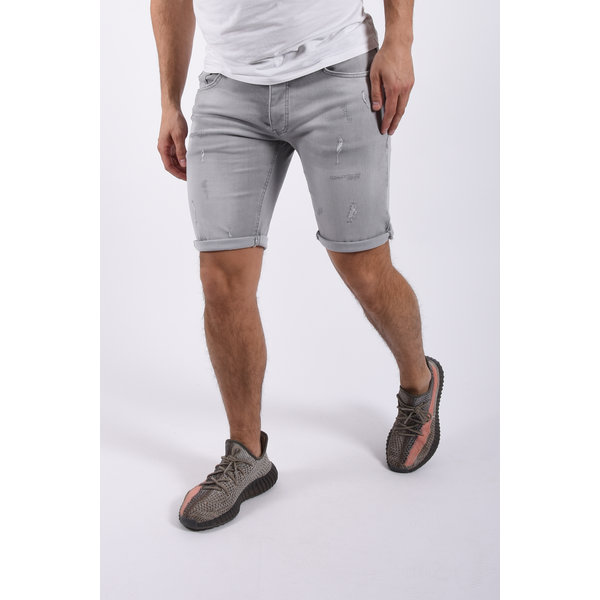 """Y Jeans stretch shorts """"raf"""" light grey slightly damaged"""